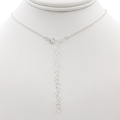 Handmade Sterling Silver Necklace heart necklace extender