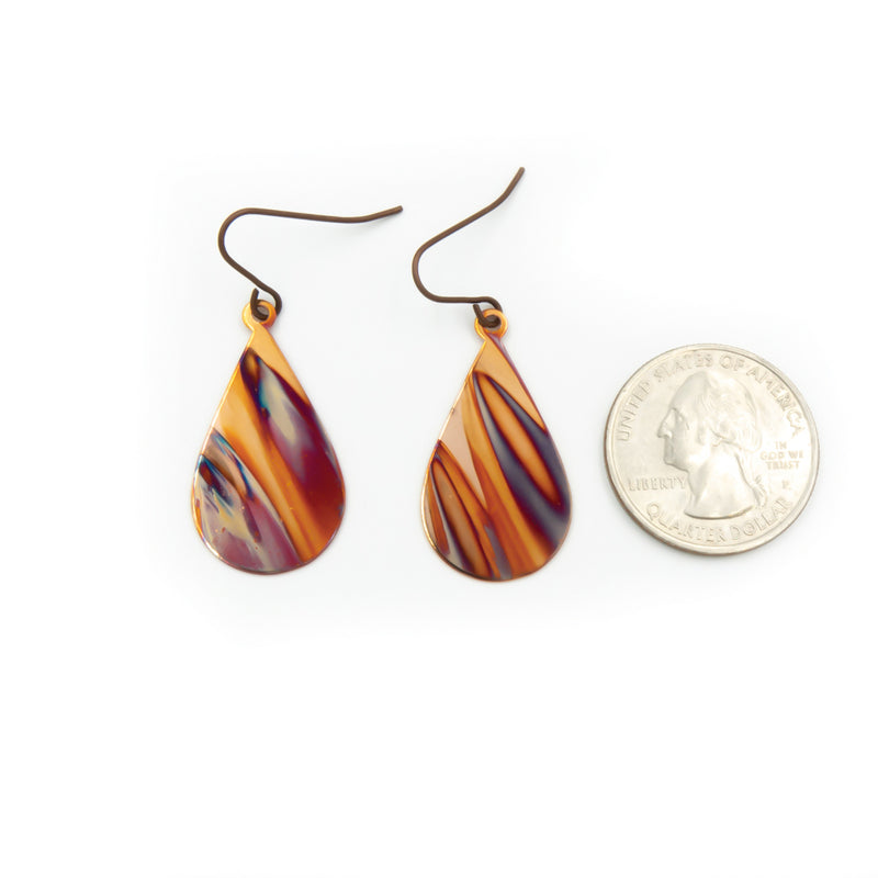 Fire ~ Hand Torched Flame Earrings