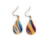 Purple & Blue ~ Handmade Torched Flame Painting Earrings