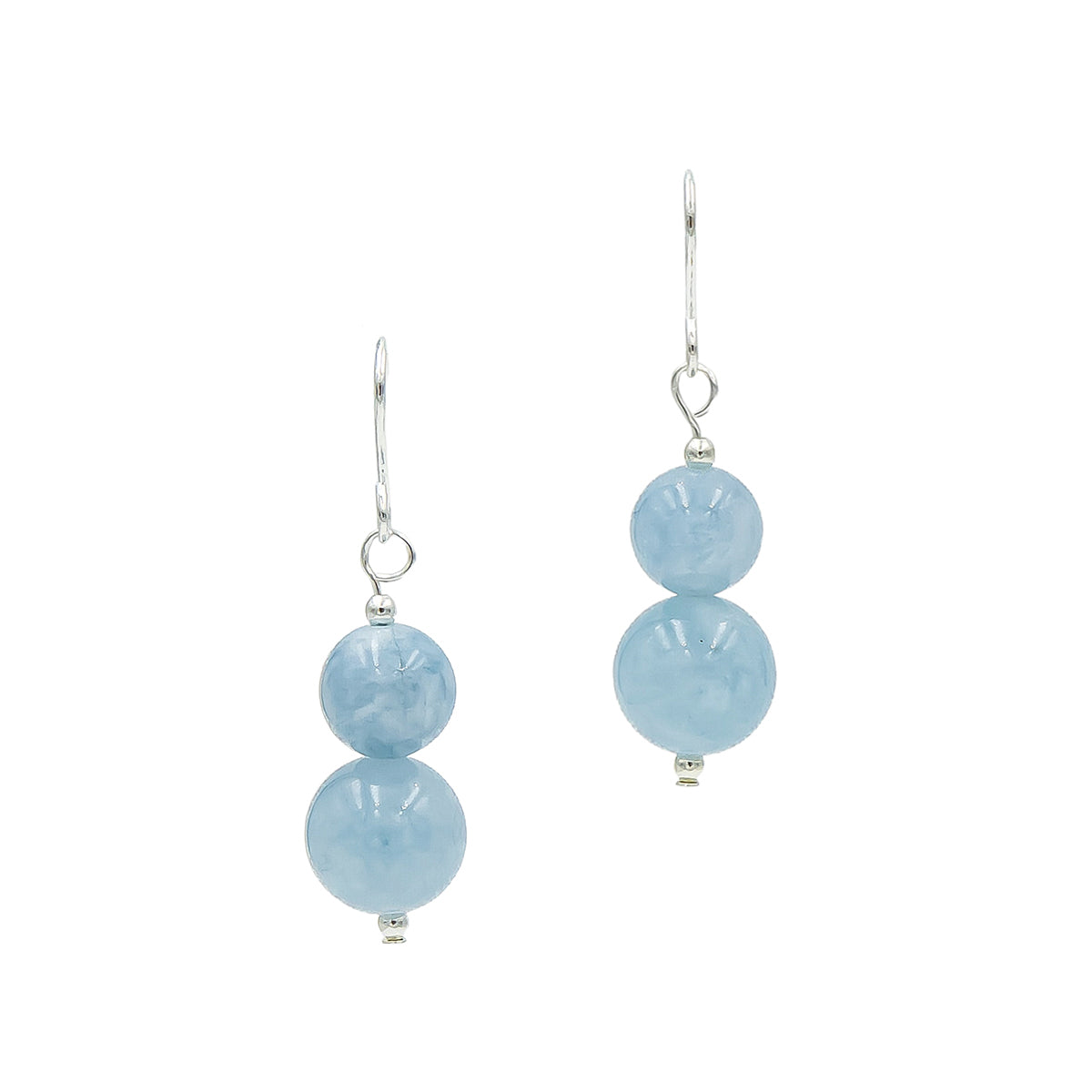 Aquamarine on Silver Handmade Earrings