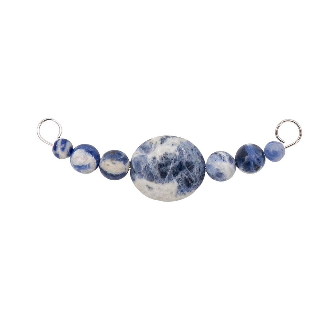 Sodalite Interchangeable Sterling Silver Necklace Bar
