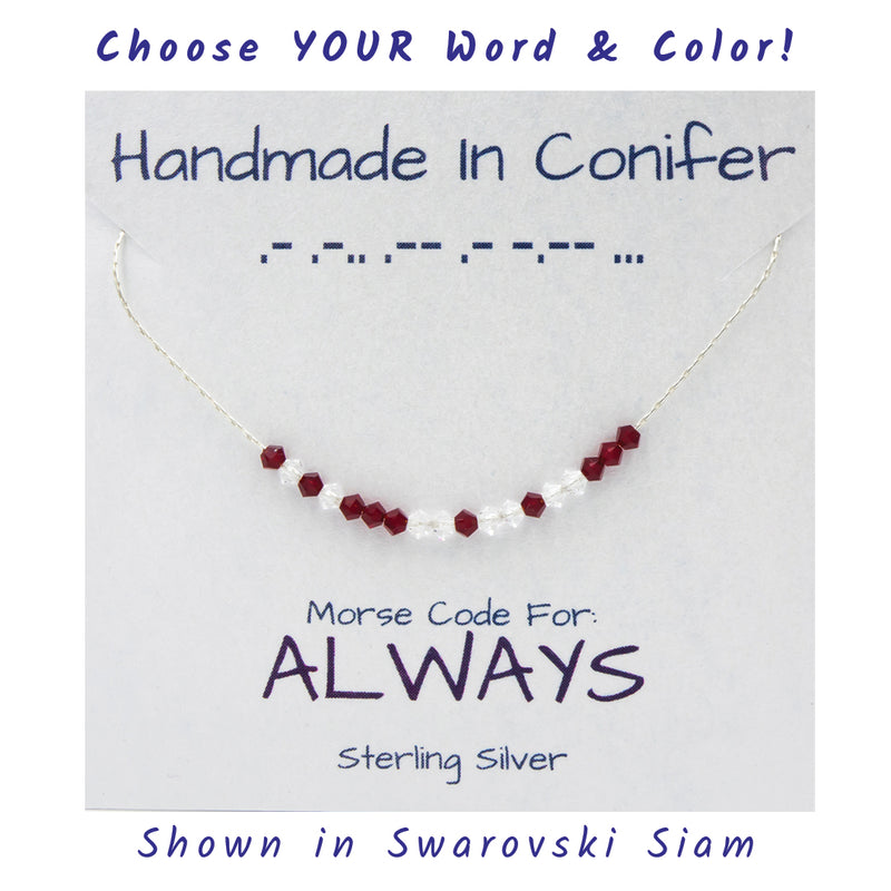 Custom Swarovski Crystal Spells YOUR Words In Morse Code