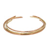 Handmade hammered copper brass bangle cuffs