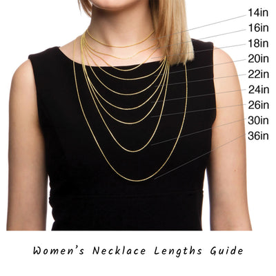 womens necklace length sizing guide handmade jewelry