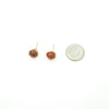 Copper Wrapped Red Jasper Stud Post Earrings ~ Handmade
