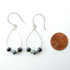 Snowflake Obsidian Sterling Silver Earrings - Handmade In Conifer