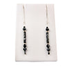 Snowflakes On Black - Sterling Silver Ear Threads