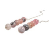 Pink Peruvian Opal Ear Threads Earrings