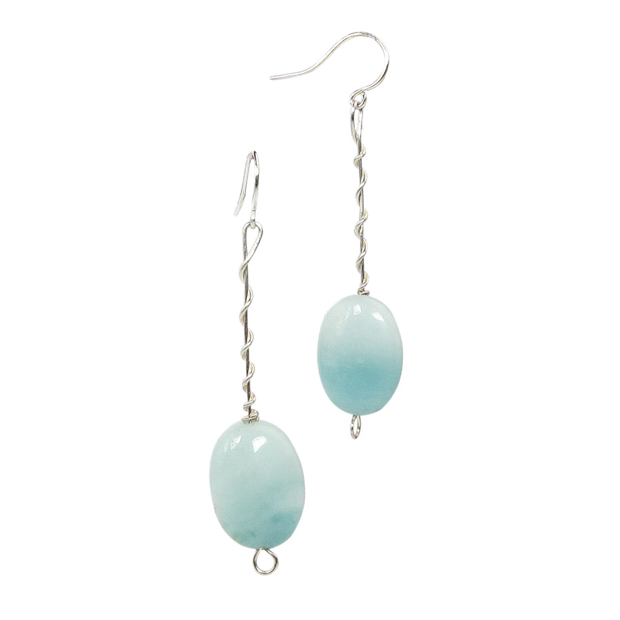 Seafoam Amazonite Twist Around Earrings