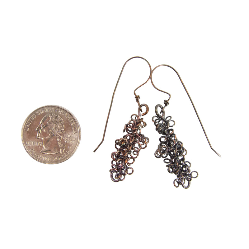 Masses of Copper Coils Handmade Earrings