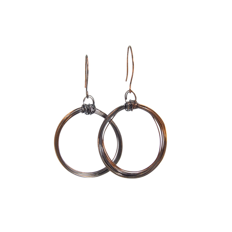 Copper Looped Hoops Handmade Earrings