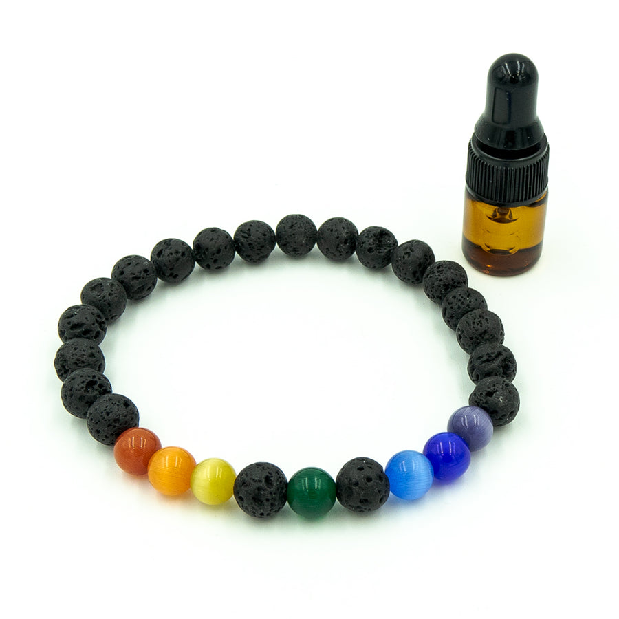 Personalized aromatherapy and chakra bracelet