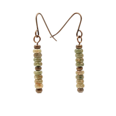 Colors of Fall Dangling Stacks Handmade Earrings