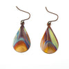 Torch Flamed Copper Earrings - Handmade In Conifer Jewelry