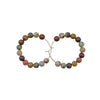 Handmade In Conifer Jewelry - Ocean Jasper Silver Hoops Earrings - The Color Palette
