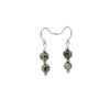 Silver Rainforest Rhyolite Earrings Handmade In Conifer Jewelry