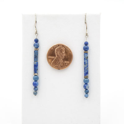 Handmade In Conifer Jewelry - Denim Lapis Earrings size