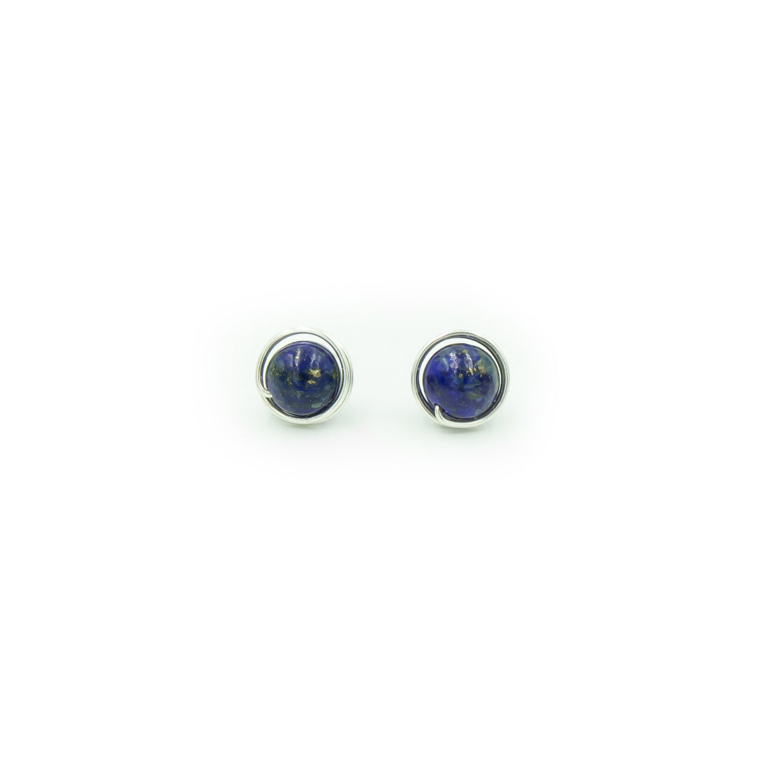 Sterling Silver Lapis Lazuli Posts ~ Handmade
