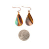 Landscapes Hand Torched Flame Copper Earrings size guide