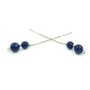 Blue Agate Sterling Silver Ear Threads - Handmade In Conifer Jewelry Earrings