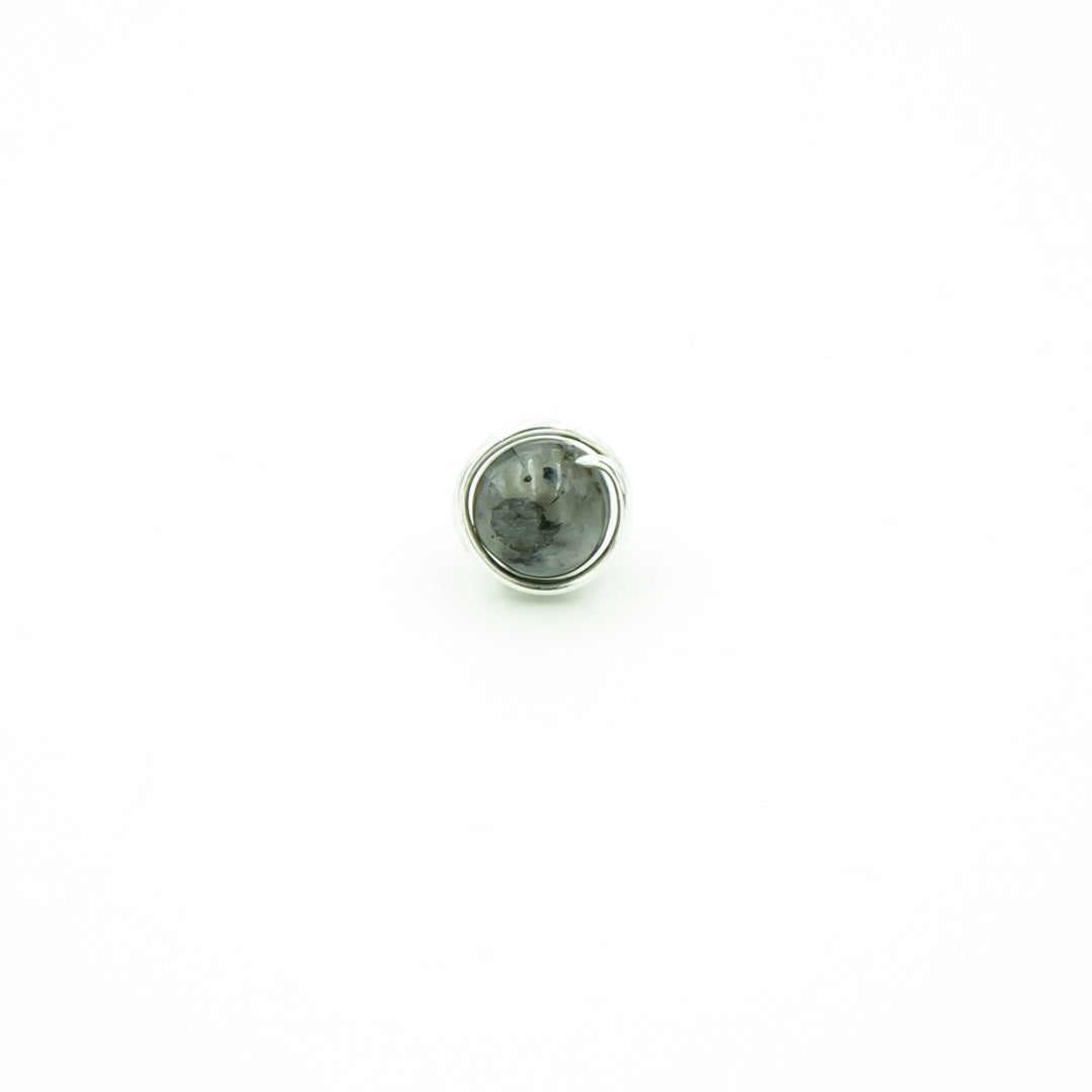Sterling Silver Black Moonstone Single Stud Nest
