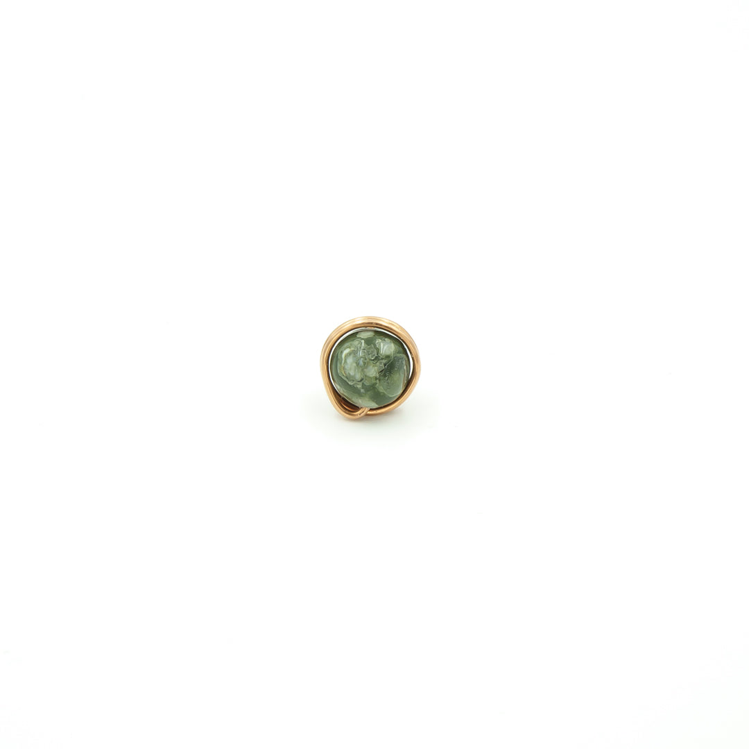 Copper Wrapped Rhyolite Single Stud Nest