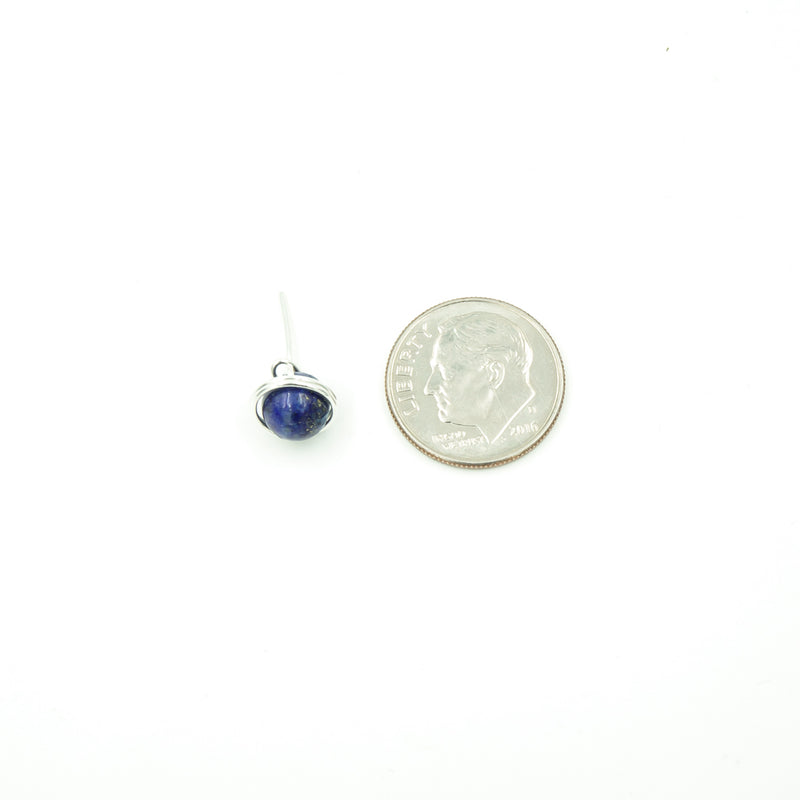 Sterling Silver Lapis Lazuli Single Stud Nest
