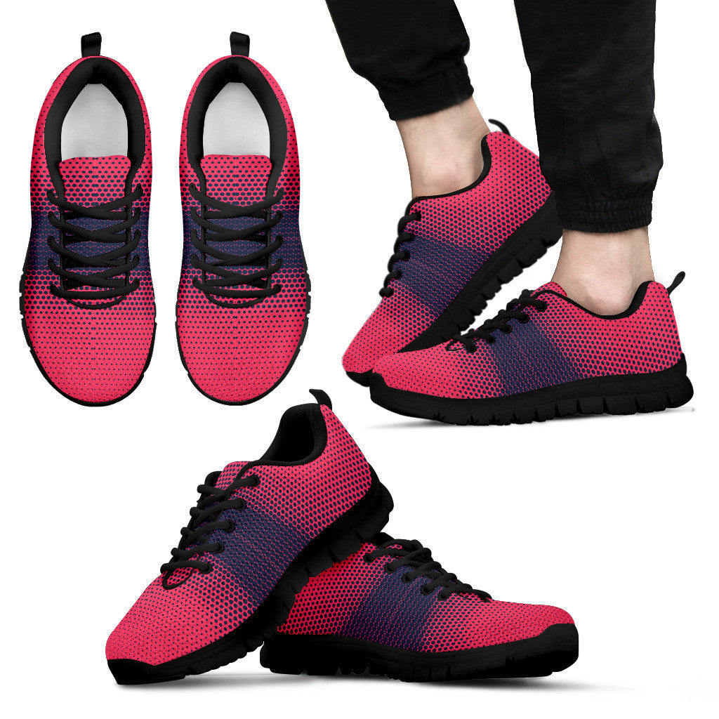 Abstract Print Black Sneakers