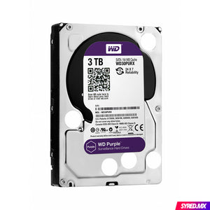 Disco Duro Western Digital Purple 3 TB 3.5'' SATA III 5400 RPM Optimizado para video vigilancia 24/7