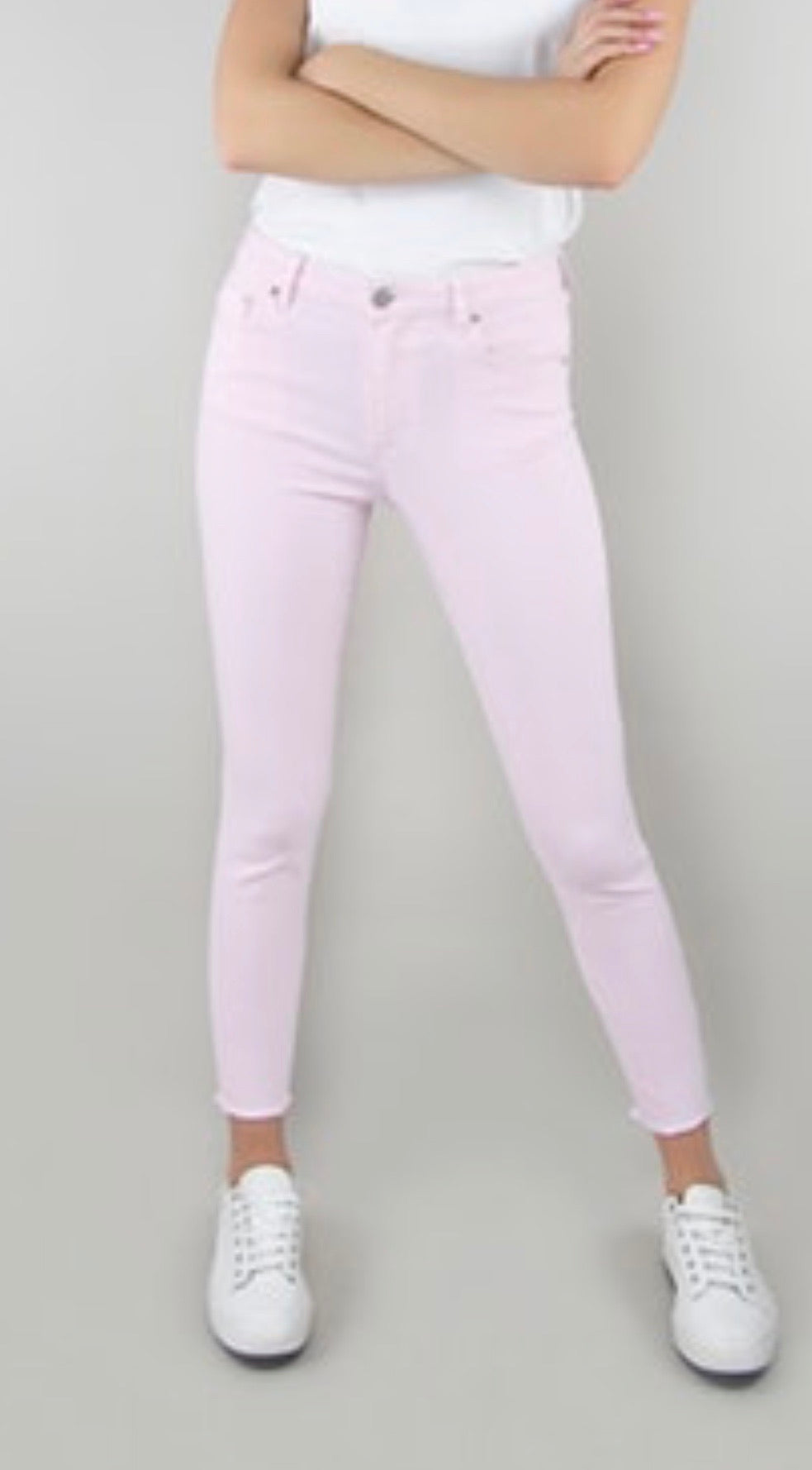 High rise Lt. Pink Skinny jeans
