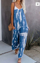 Loose fitting v neck tank jumpsuit