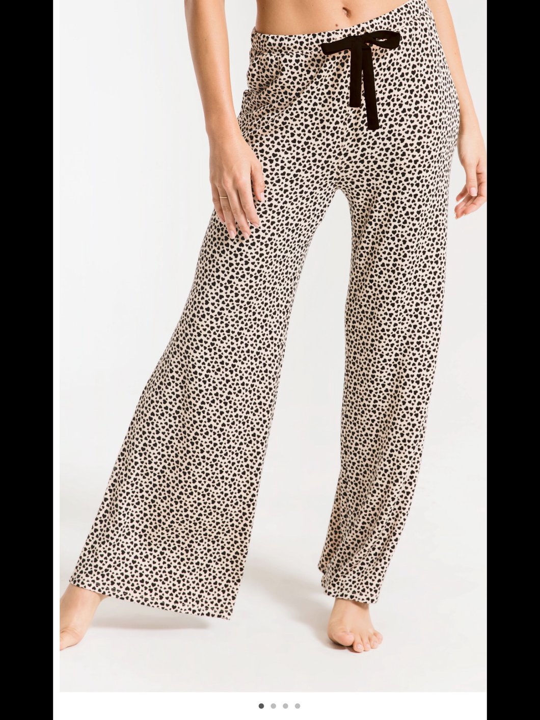 Mini heart wide leg lounge pant