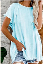 Loose Fit Short Sleeve Linen Top