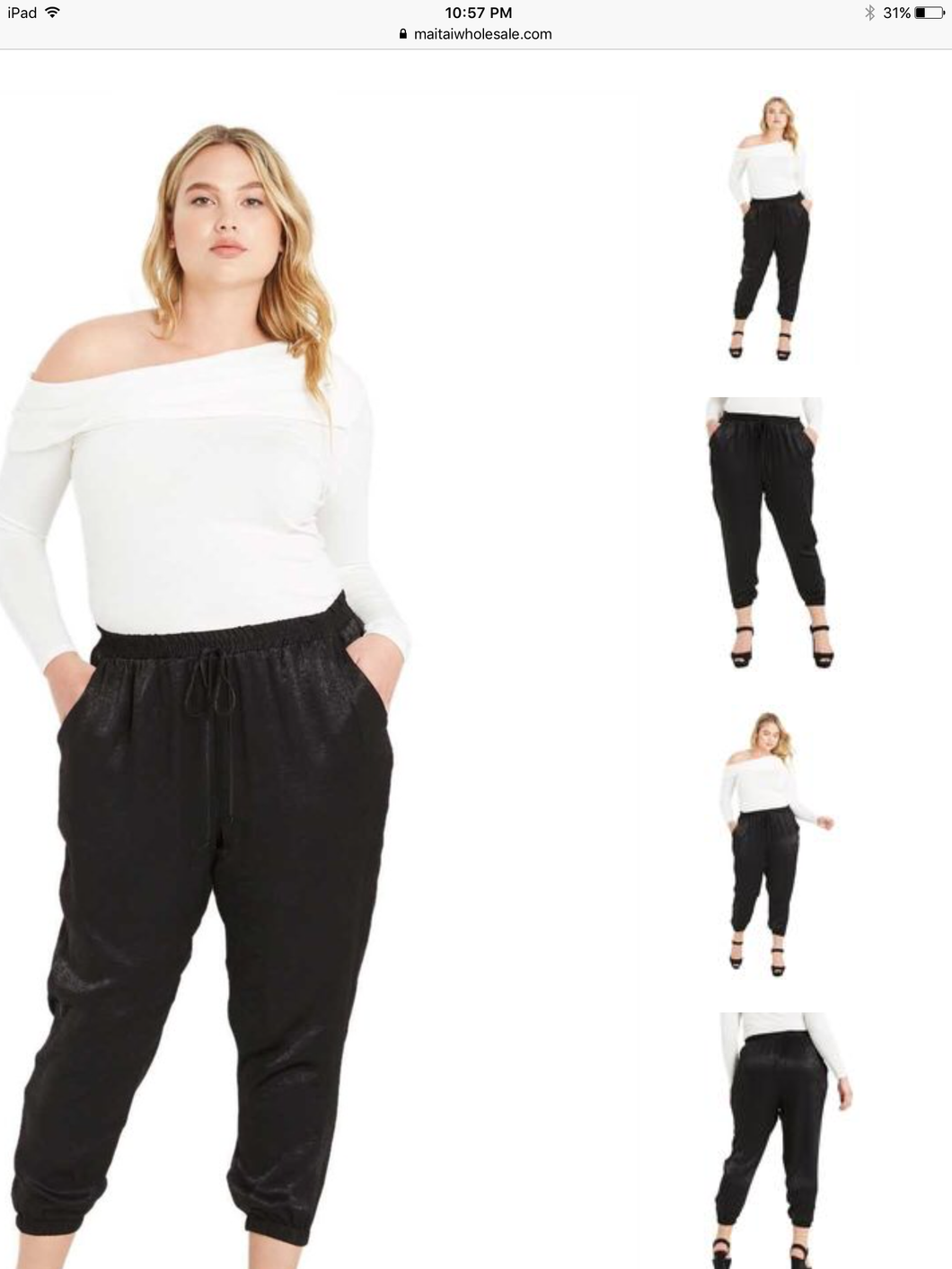 Plus Silky Jogger Pants
