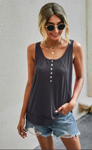 Button Front Tank Top