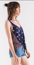 Stars and Stripe tie tank top