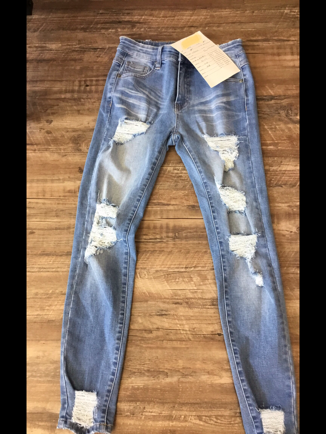 Light Wash Ripped Denim Jeans