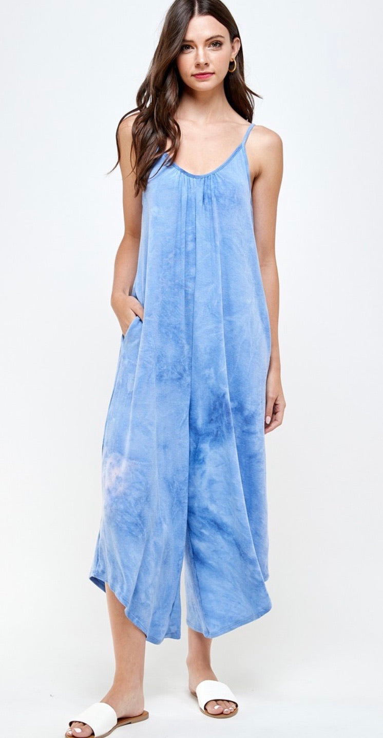 Tie Dye Loose Fit Jumpsuit