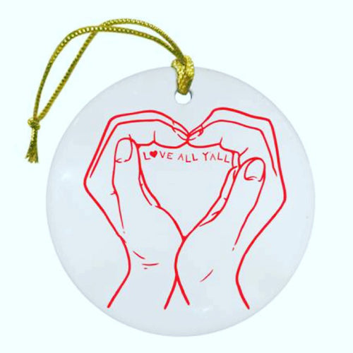 Custom Ceramic Love Ornament