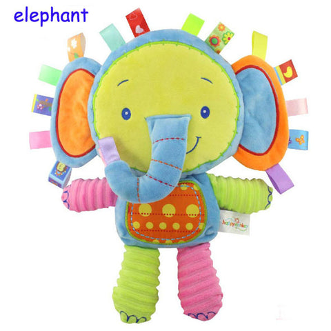 Baby Animals Plush Toys Soft Elephant Calm Baby Toys With Bb Ring