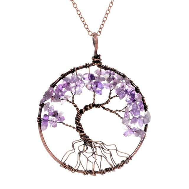 7 Chakra Tree of Life Necklace | Sedona Moonrise