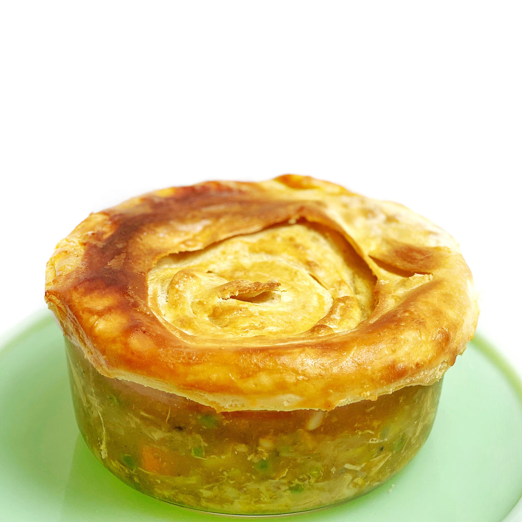 Japanese Curry Pot Pie with Spiral Pastry