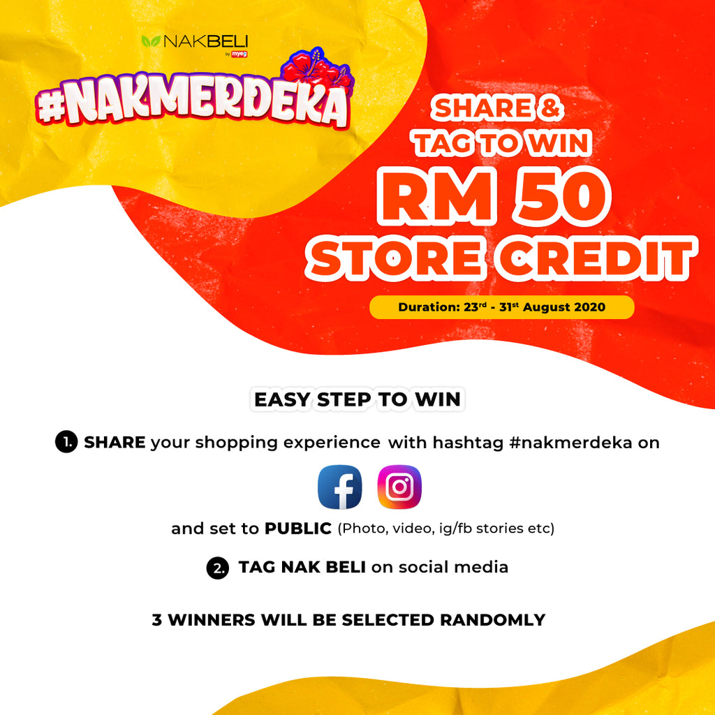 #NAKMERDEKA SHARE & TAG TO WIN