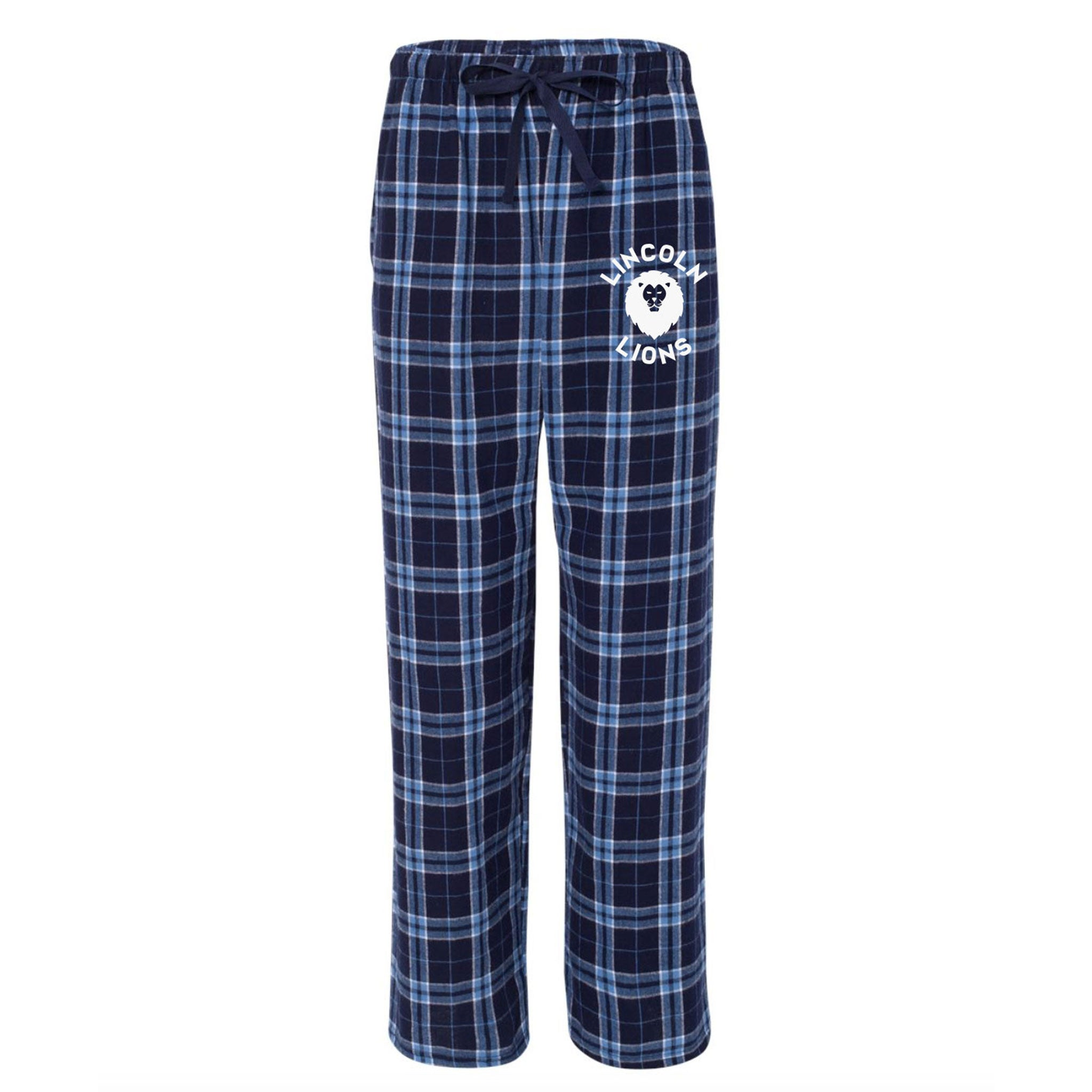 Lincoln Adult Pajama Pants - Navy/Columbia
