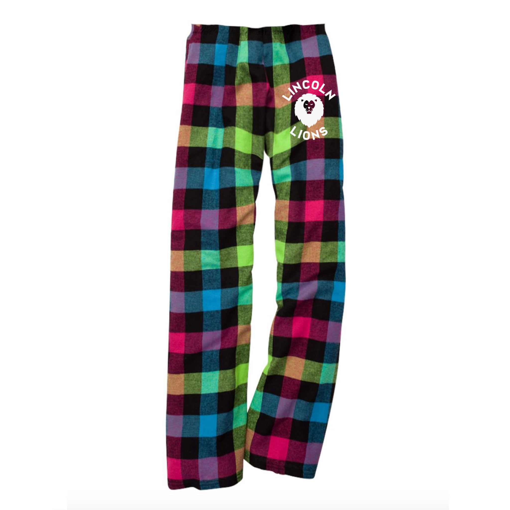 Lincoln Adult Pajama Pants - Neon