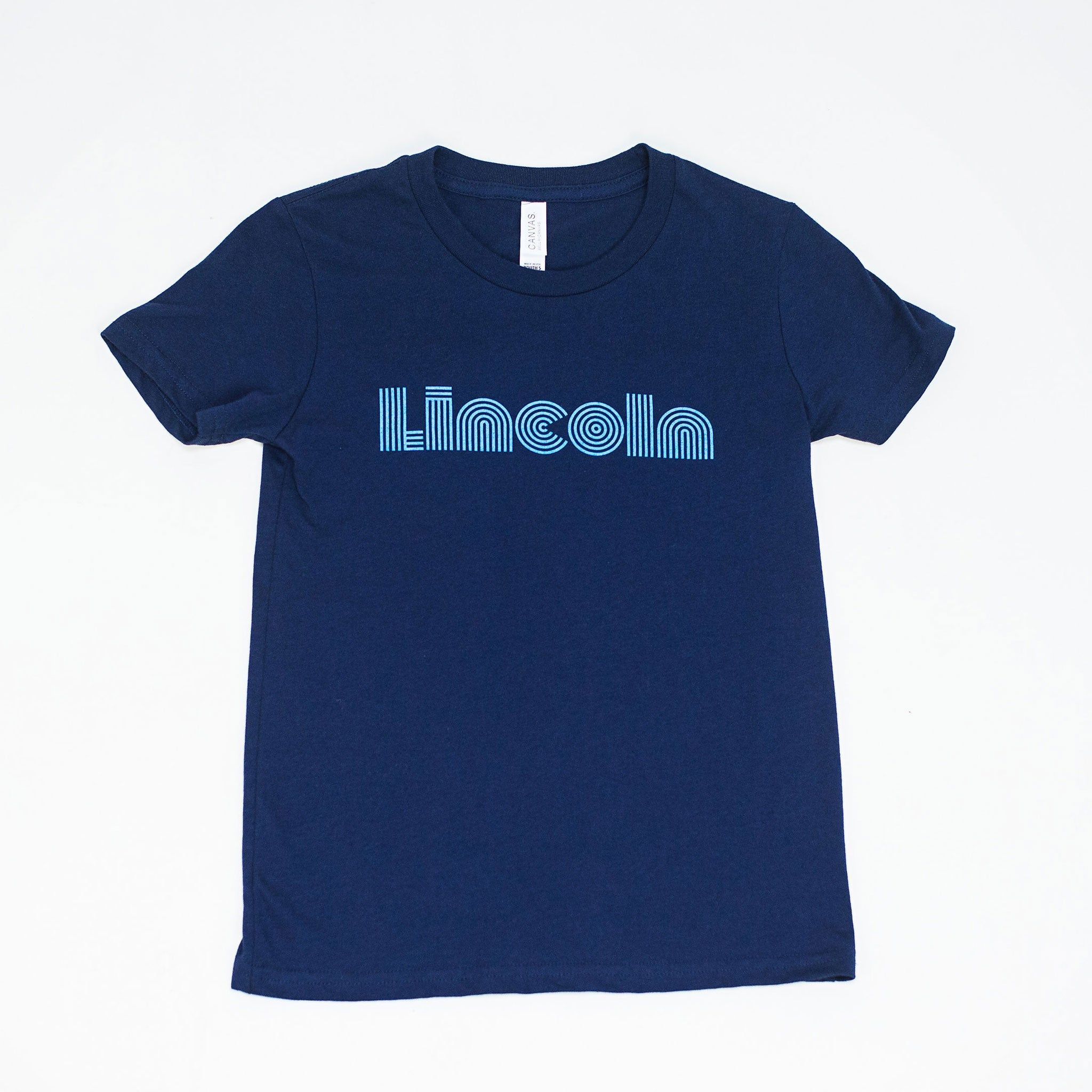 Lincoln Adult S/S Wavy Tee (Navy)
