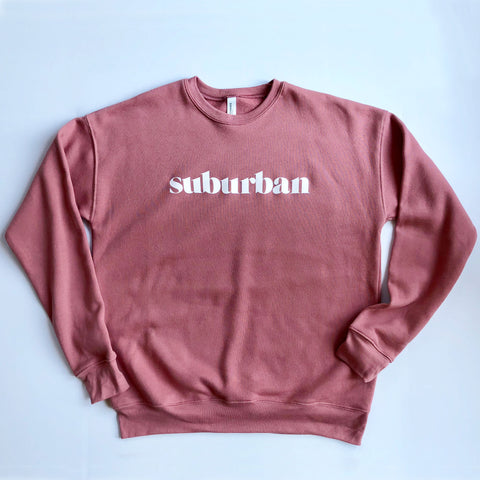 Hey Local Mauve Suburban Crewneck Sweatshirt
