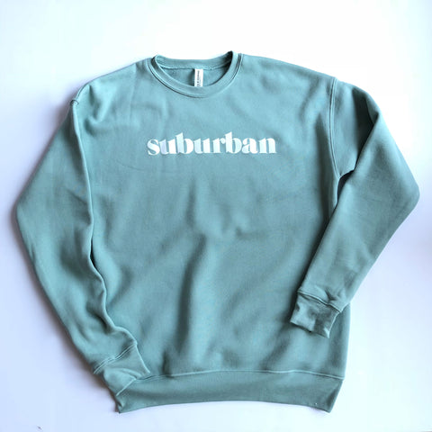 Hey Local Dusty Blue Suburban Crewneck Sweatshirt