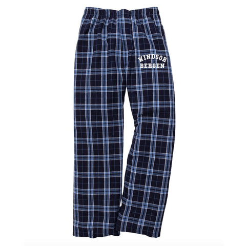 Windsor Bergen Academy Youth Pajama Pants - Navy/Columbia