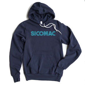 Sicomac Adult Retro Design Hooded Sweatshirt
